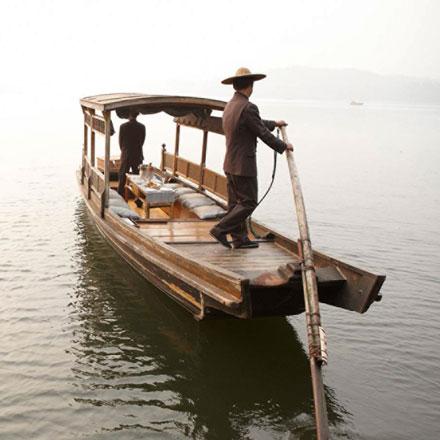 Four Seasons Hangzhou rowboat ride